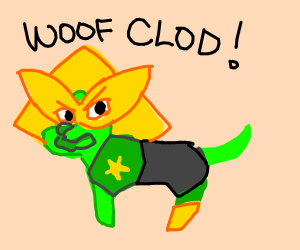 peridot from steven universe as a dog