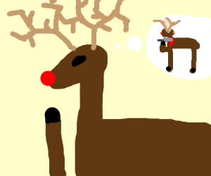 Rudolph contemplating suicide