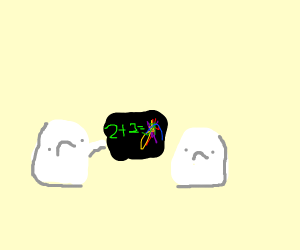 two ghosts suck at math