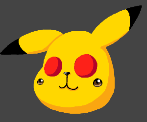 Pikachu but his cheeks are eyes and viceversa