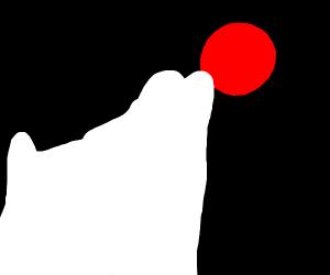 Werewolf howls to blood moon