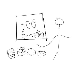 Congrats for Reaching 200 Emotes!