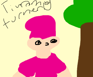 Timmy Turner taking a walk in the park