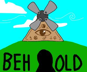Illuminati windmill