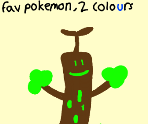 Draw your favourite pokemon but use 2 colours