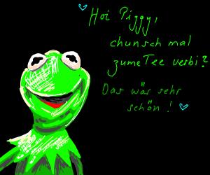 Kermit speaks foreign language