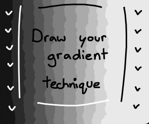 Draw your gradient technique. Pass it on.