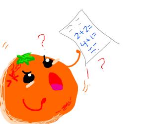 orange man struggles with math