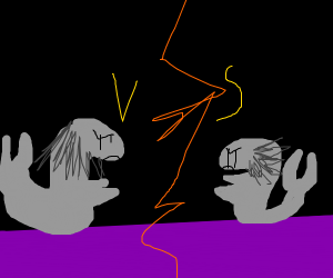 intense Silverfish battle on purple carpet