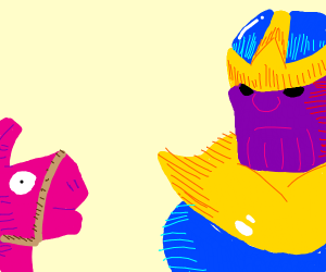 Thanos vs. The loot llama