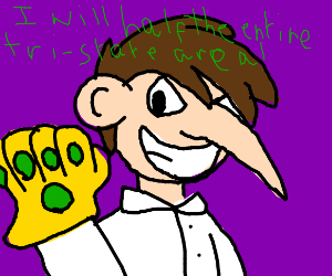 doofenshmirtz with the infinity gauntlet!
