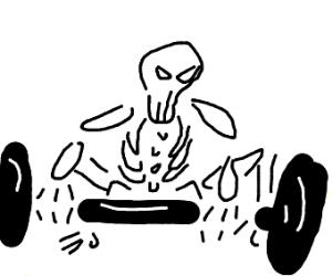 Skeleton weightlifter