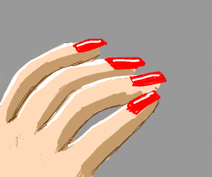 Getting nails done painted red