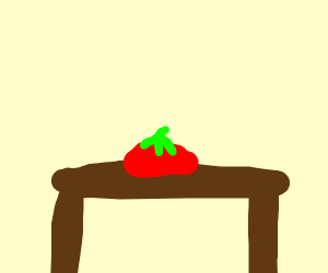 a tomato on a table
