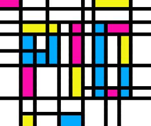 Draw like Piet Mondrian PIO