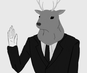 Guy with deer head