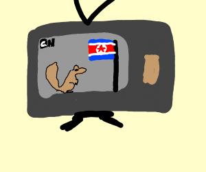 North Korean Squirrel Cartoon