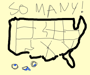 there are many us states
