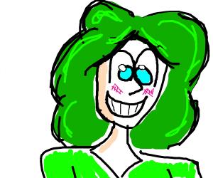 anime girl with green hair
