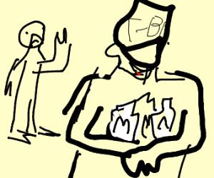man's milk stolen by FBI agent