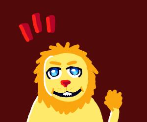 happy lion!!