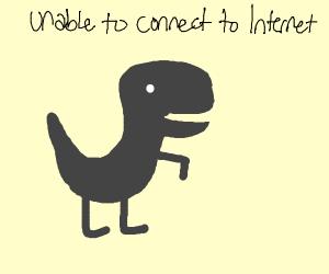 the no internet dinosaur