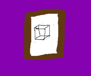 cube in frame