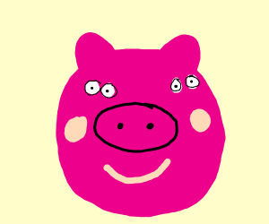 front of pepper pigs face
