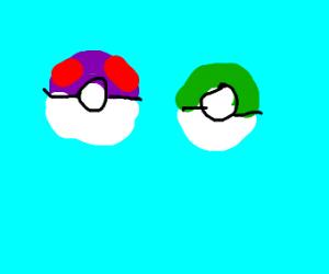 Multicoloured Pokéballs