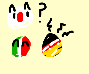 Countryballs Italy, Germany, and Japan