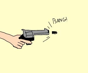 Firing a revolver