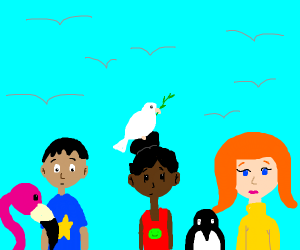 Umm The Humans and the birds :=D