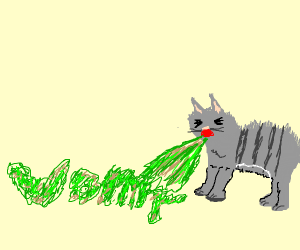 """Cat vomits """"vomit"""""""