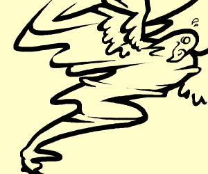 Vulture in a Tornado