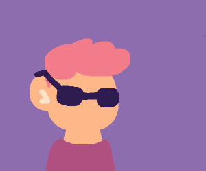 Guy with blow-dry hairstyle and sunglasses