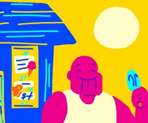 thanos goes to the ice cream shop