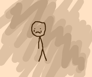 Sad stick figure