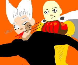 Saitama Punching Garou (One Punch Man)