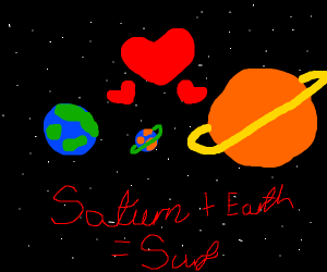 Earth and Saturn have a baby