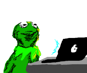 kermit browses the internet