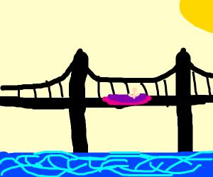 Maggie sinking into a Bridge