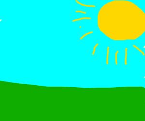 A bright sunny day