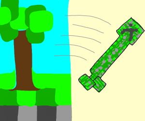 Minecraft Creeper escapes Minecraft