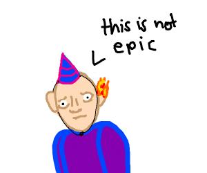 Birthday boy's ear is on fire
