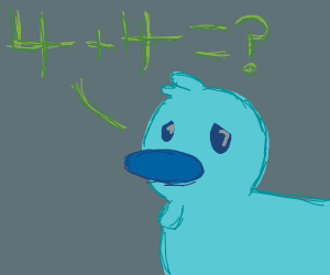 Math makes duck sad