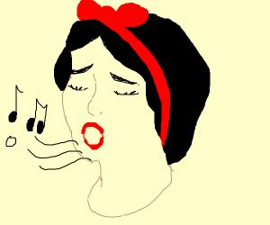 Snow white singing