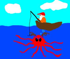 Man fishes up sea demon