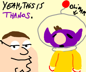 Peter says Olimar is Thanos