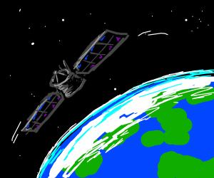 satalite orbiting earth