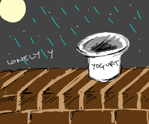 Yoghurt in rain + moonlight
